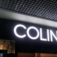 Large letters with front lighting