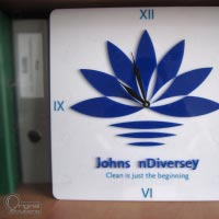 Acrylic clock with logo