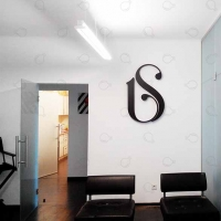 Large letters in the corporate interior