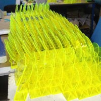 Producing plastic stand