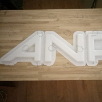 Molded letters